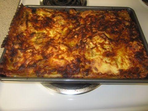 como hacer una lasagna con pollo.