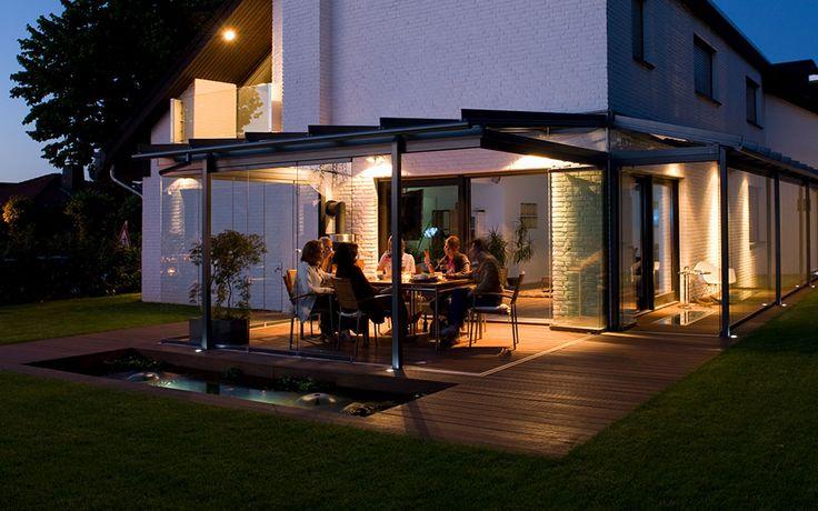 Glashaus light - Glas Schiebetüren - Terrassenüberdachung - Wintergarten, Glashaus light, Terrassendach oder Sonnenschutz von Glashaus Rehm in Neckartailfingen bei Stuttgart