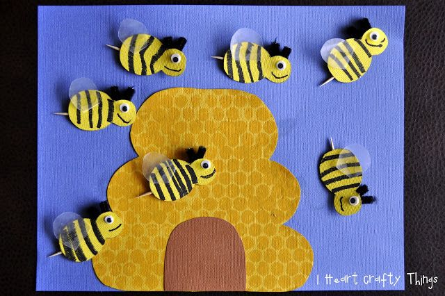 Busy Bees Craft | Bee crafts and Summer crafts