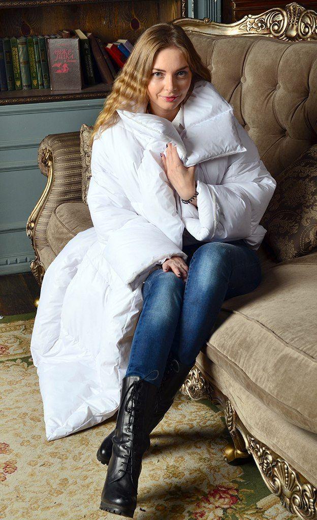Weiße Jacke Daunendecke. Künstlichen Schwan nach von WildThingsShop
