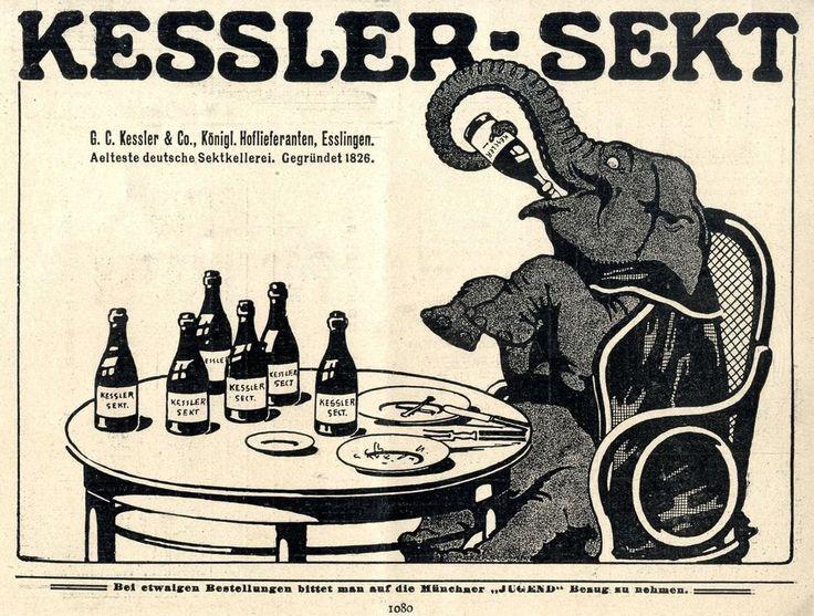 Kessler-Sekt Esslingen Älteste deutsche Sektkellerei 1910