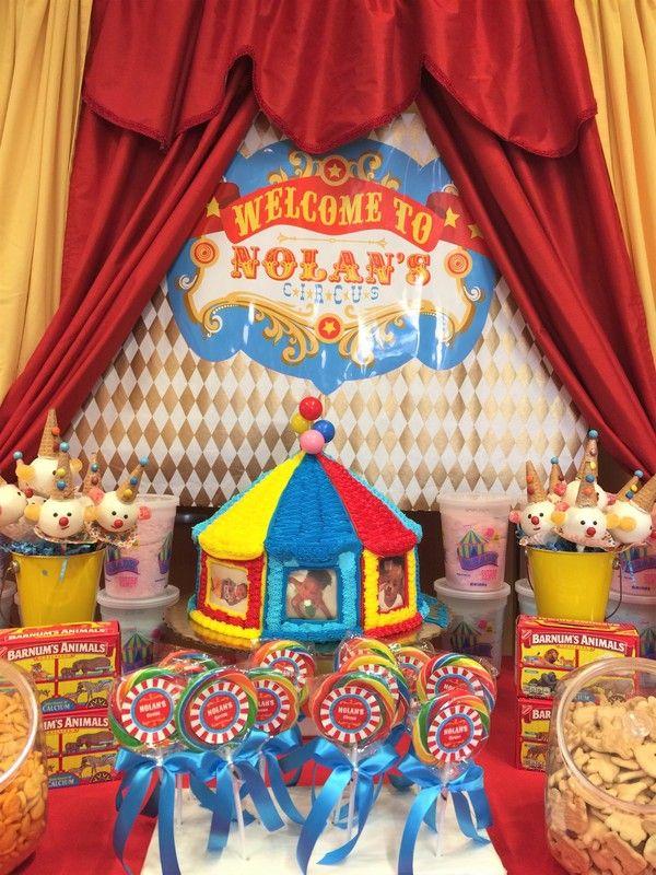 Circus Birthday, 1st Birthday Circus, Carnival Party, Circus Candy Buffet, Carnival Candy Buffet