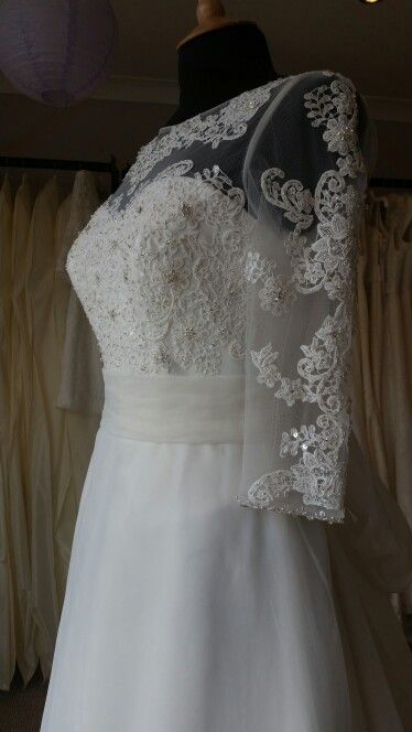 Beautiful Lace detail on our Charlotte gown
