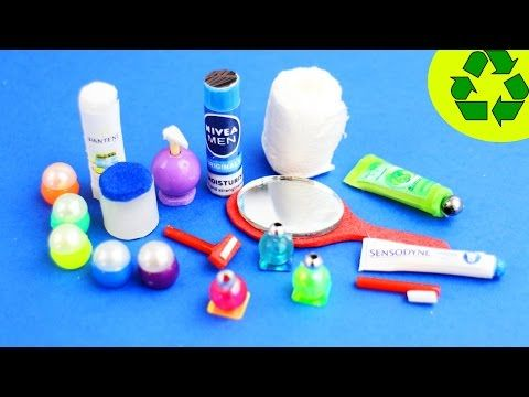 DIY Miniature Doll Toothbrush, Holder, & Working Toothpaste - Bathroom Accessories - YouTube