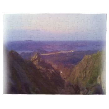 Nature oil paint made out of a photo. Up on a small mountain looking down to the bottom of the mountain with some water and more land on the other side of the water. #oil-paint #photo #mountain #nature #sky #cloud #nature-photo #nice-photo #decorative-photo #landscape #outdoor