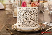 Wedding Invitations Cards Engagement Gatefold Invite Laser Cut ...