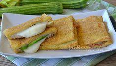 Mozzarella in carrozza al forno con zucchine e prosciutto cotto