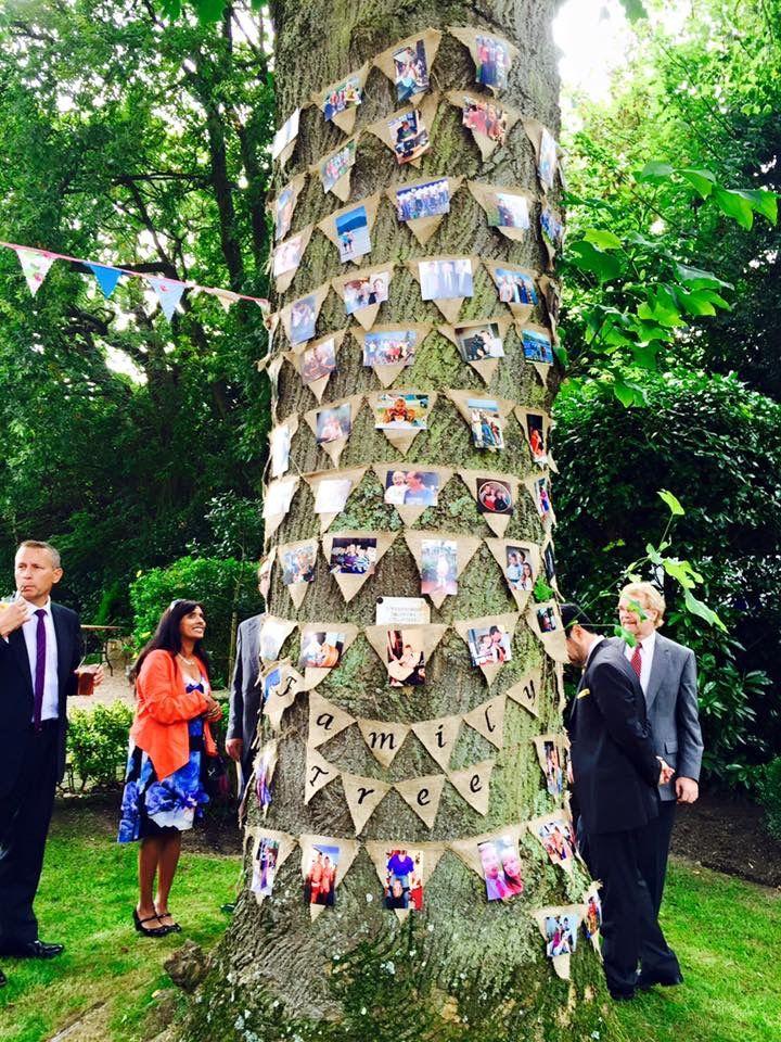 Family tree #homemade #hessian #photobunting #love #wedding #familyphotos #babe2bride