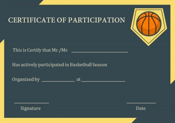 Basketball certificate of participation basketball participation basketball certificate of participation certificatebasketballnetball yadclub Image collections