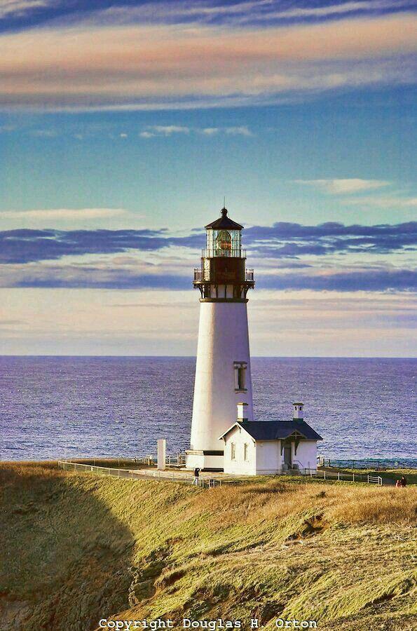 Yaquina Head Lighthouse North of Newport Oregon