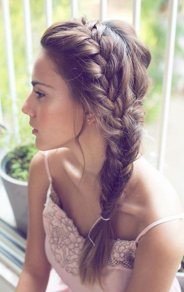 I'd love to try this braid on someone!! It looks so fun and casual for summer