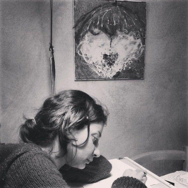 Laura disegna, LC, 2013  http://visionipoetiche.com/2013/04/16/laura/