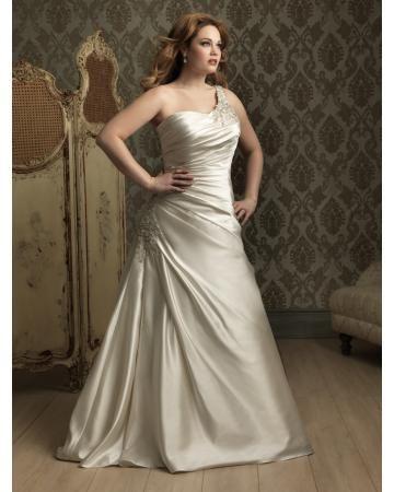Na jedno ramínko Řasení Šněrování Svatební šaty 2013