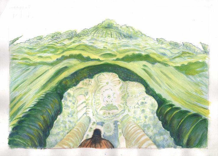 """""""Unì le mani e le schiuse con lentezza. Alberi e arbusti cominciarono prima a fremere, poi a piegarsi tra scricchiolii e schianti. Alla fine rimase uno stupefacente corridoio nel verde che pareva invitarli a entrare."""""""