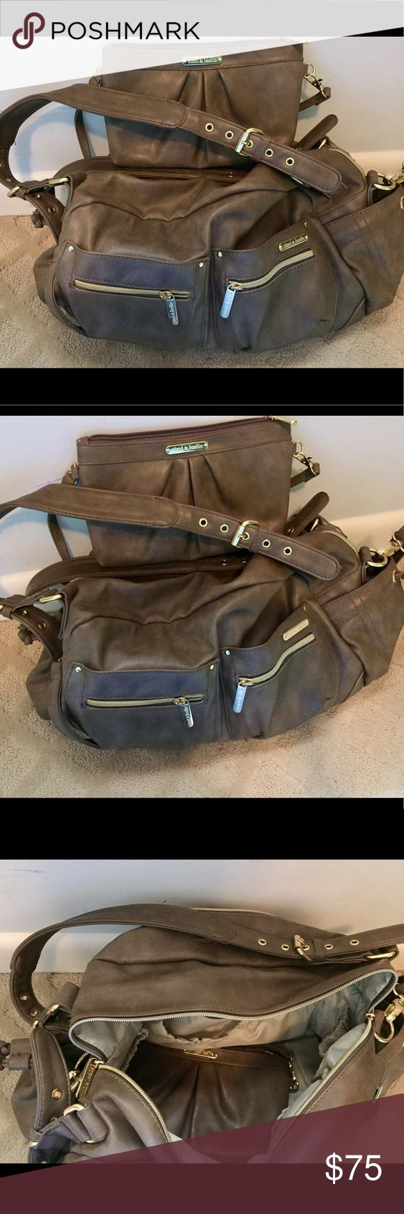 """Timi & Leslie """" Jessica """" diaper bag Timi & Leslie diaper bag with clutch insert. Color is Taupe. Timi & Leslie Bags Baby Bags"""