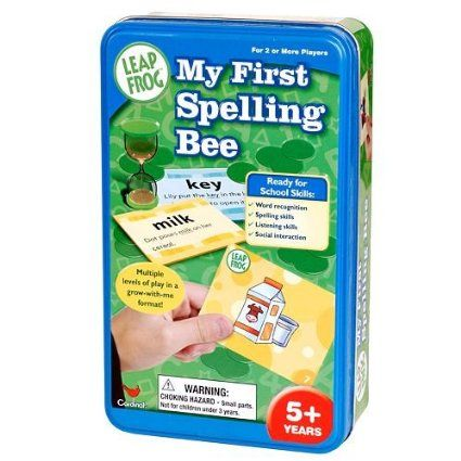 Amazon.com: Leap Frog My First Spelling Bee Game Tin: Toys & Games