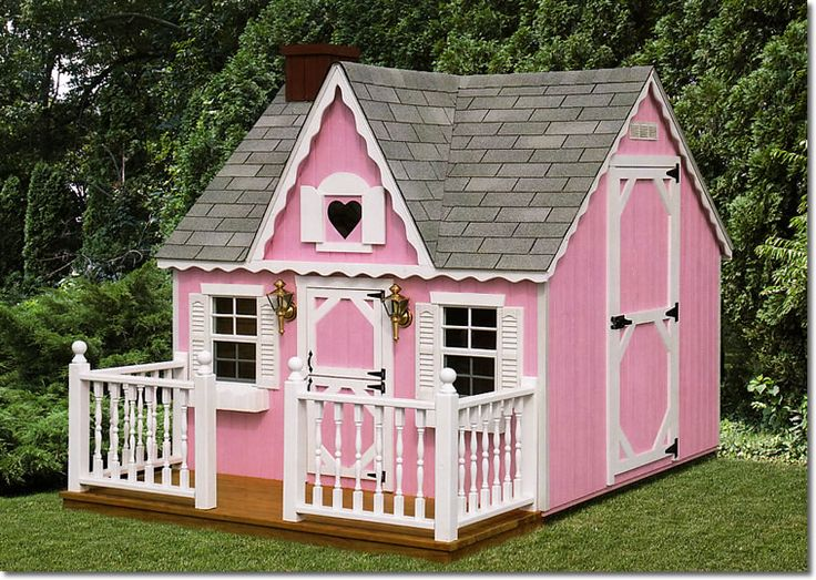 Pink outdoor playhouse bing images for Cheap outdoor playhouses