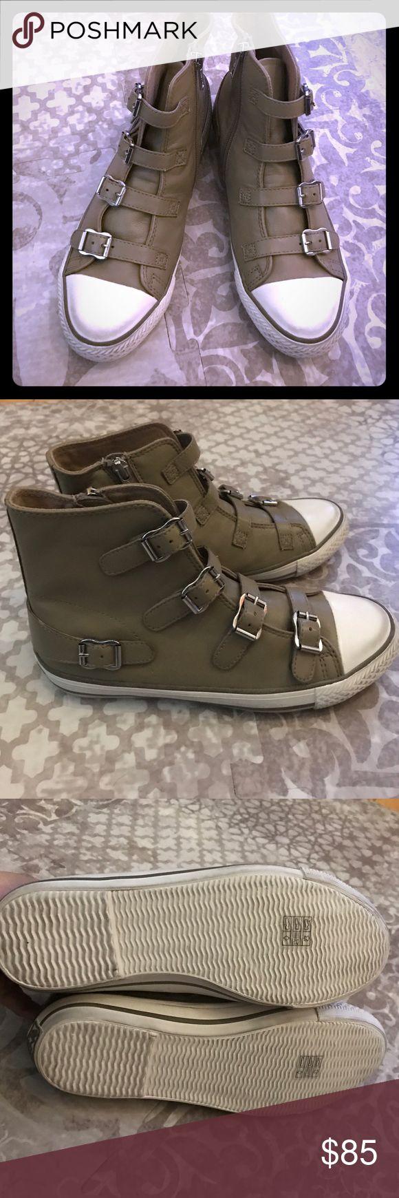 Never worn new ash sneakers genial high top shoes Cute edgy ash sneakers tan never worn Ash Shoes Sneakers