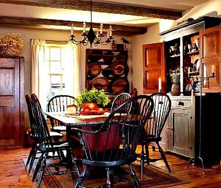 524 best images about primitive country dining rooms 2 on Pretty dining rooms