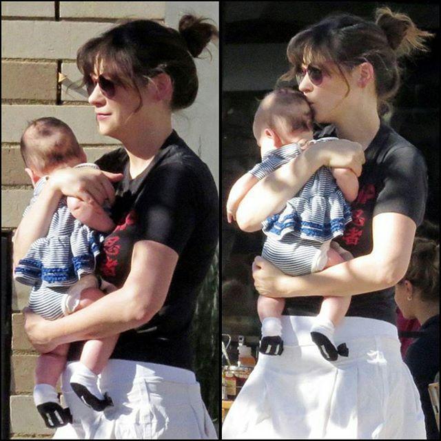 newgirlfanforum:    Zooey Deschanel with her baby girl Elsie Otter!!! Cuteness overload!! x