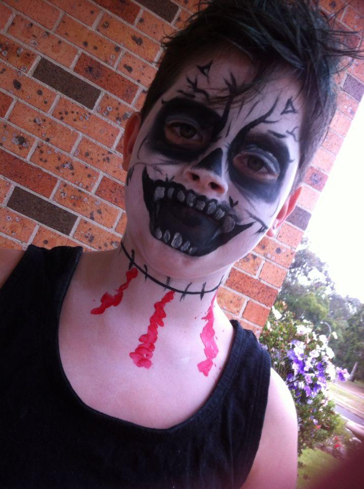 Halloween face paint fun