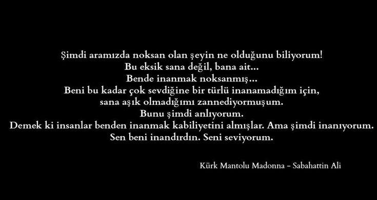 Sabahattin Ali |Kürk Mantolu Madonna