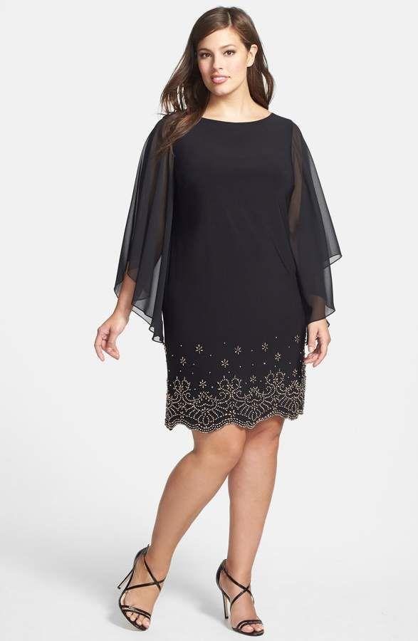Xscape Embellished Chiffon Shift Dress | Women\'s Fashion | Pinterest ...
