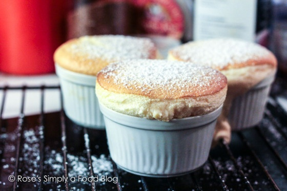 Vanilla Souffle. Every spoon of these is as light and fluffy as a little warm cloud of vanilla...