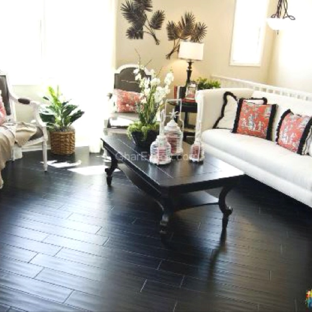 Black bamboo floors Kinda want this for the floor in my bedroom