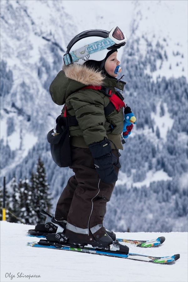 My Future Child! Got Everything? backpack? check... gloves? check... helmet & goggles? check... Binky? check! :)