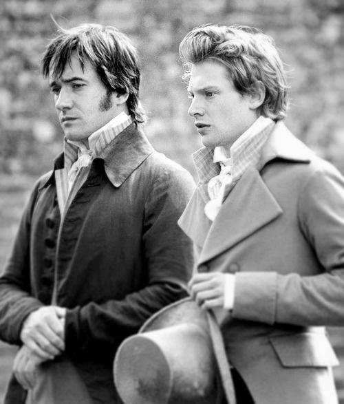 Matthew Macfadyen (Mr. Fitzwilliam Darcy) & Simon Woods (Mr. Charles Bingley) - Pride & Prejudice (2005) #janeausten #joewright