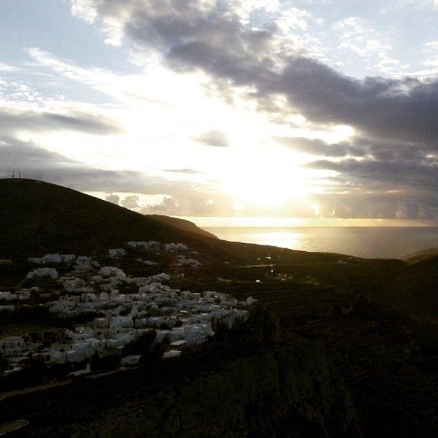 View of #Folegandros #Sunset #Cyclades #Greece  Photo credits: @geo_papa18 I