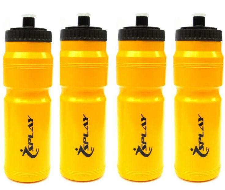 4 Yellow Water Bottle Sports running gym waterbottle juice screw lid jogging - http://sports.goshoppins.com/exercise-fitness-equipment/4-yellow-water-bottle-sports-running-gym-waterbottle-juice-screw-lid-jogging/