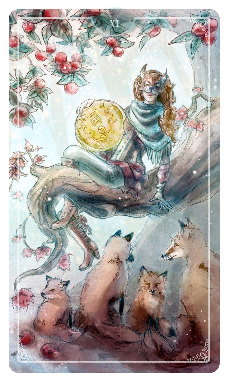 Page of Coins by Molly Applejohn - Ostara Tarot Deck