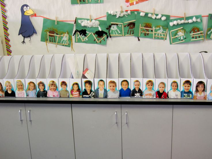 Ways to organize your kindergarten classroom ----- I bought the boxes at Ikea. Put each student's picture on a box with their name. All of their go home work goes in here. At the end of the day it makes doing folders so much easier!!!! #kindergarten