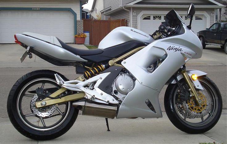 Kawasaki Ninja 650r ER-6f 2006 silver gold