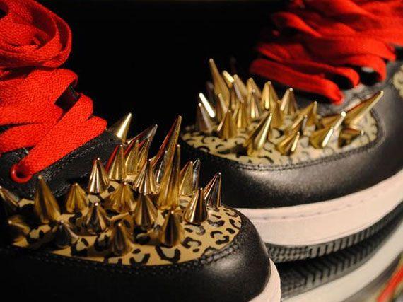 Nike Air Force 1 Blanc  Obsidian, 9 D Us