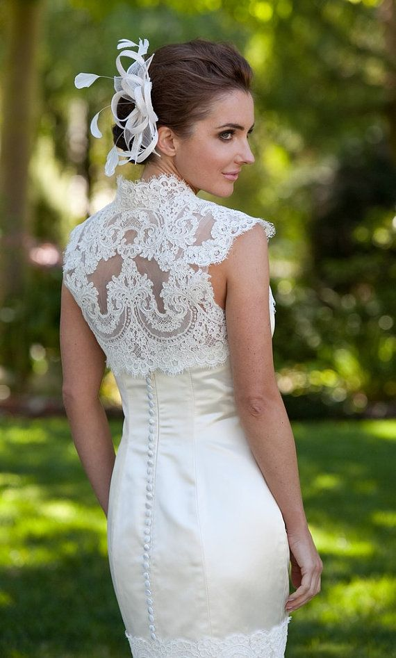 Wedding Bolero French Alencon Lace