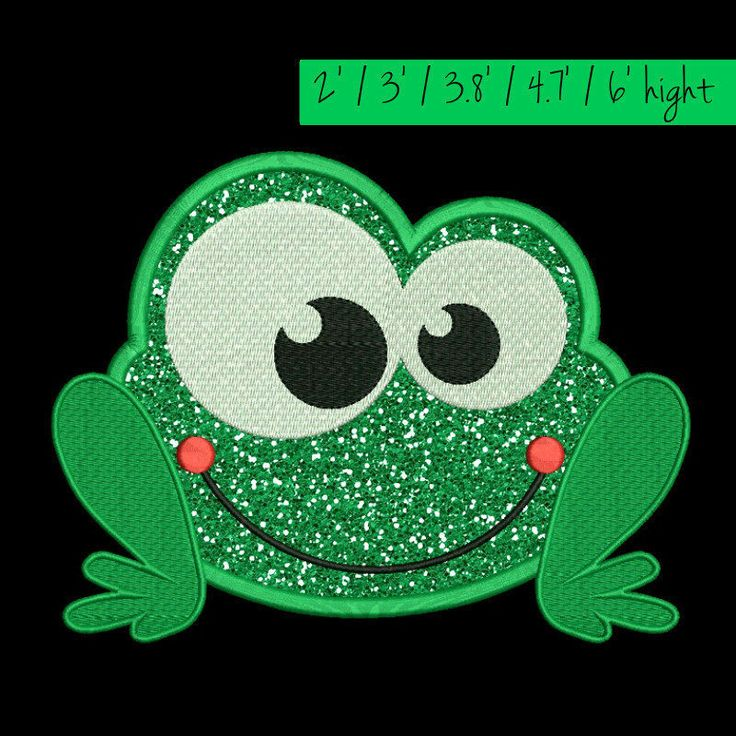 Frog Applique Embroidery designs Happy Machine pattern digital download by GretaembroideryShop on Etsy