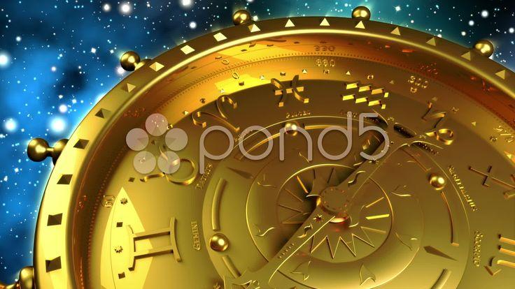 Golden Zodiac Machine - Stock Footage | by maraexsoft