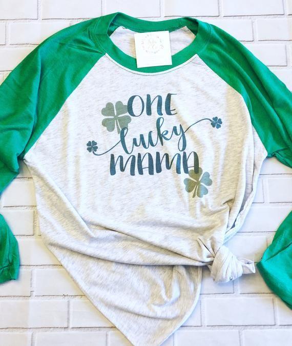 77c5912b Maternity St Patricks Day Shirt- One Lucky Mom Patrick's - Mama Cute St  Paddy's Day - Lucky Mama - C
