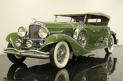 1932 Duesenberg Model J Tourster AACA Winner Stunning Restoration - my favorite antique car.  So beautiful but maybe in black.