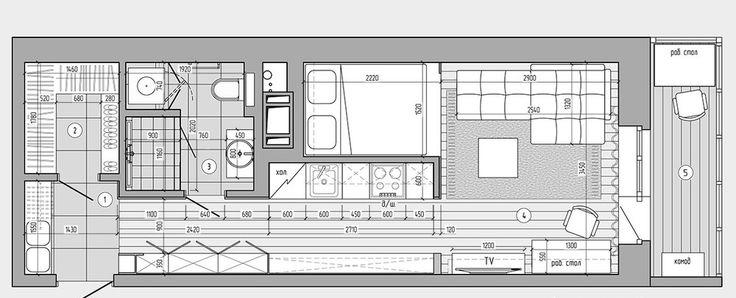 plan appartement 30m2