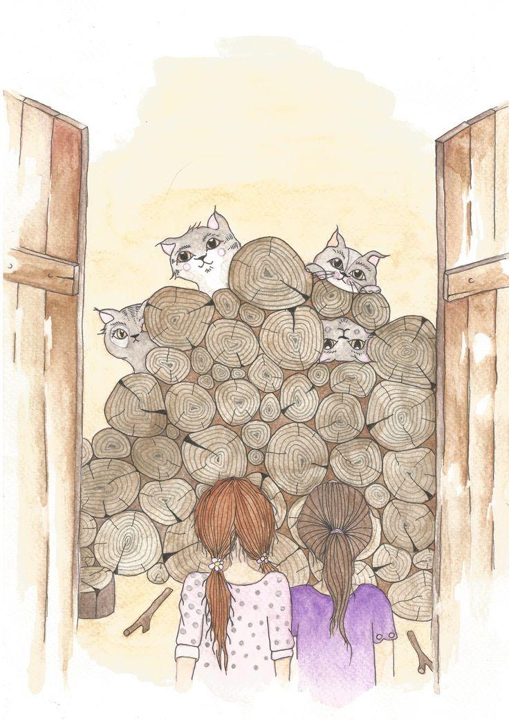 watercolor by Bencze Anita Turquoise Janina illustration