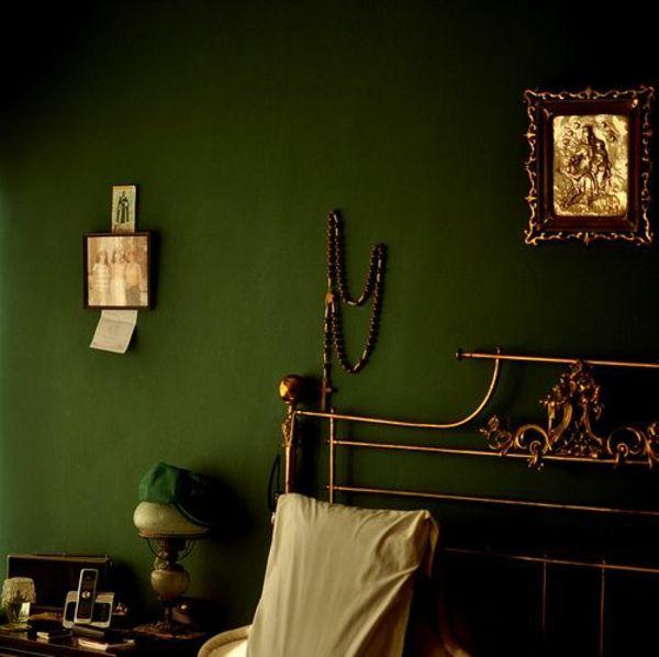 wandfarbe in grün farbideen wandgestaltung dunkel