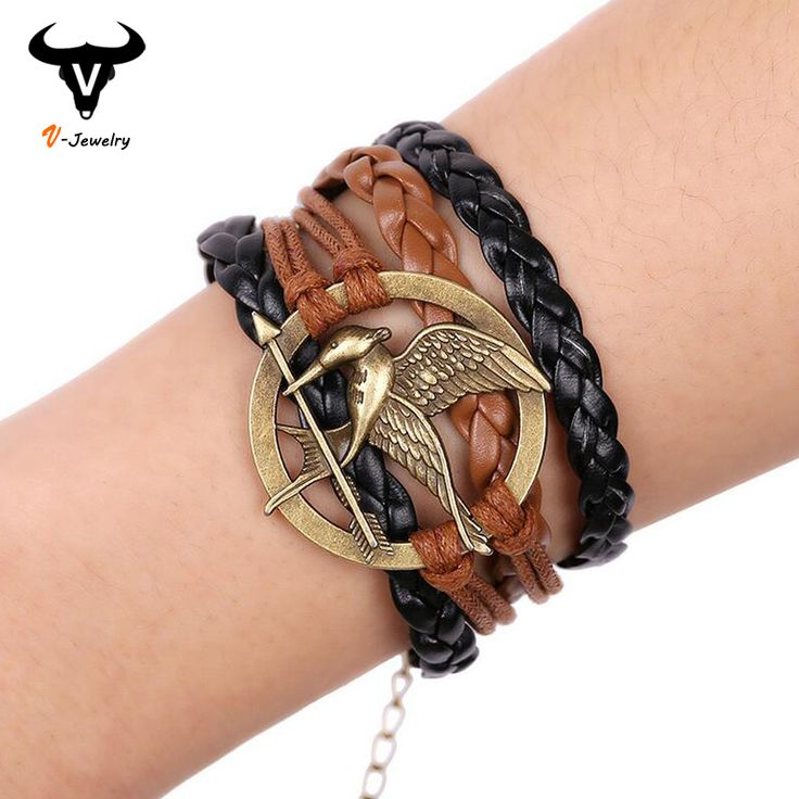 Hungry Birds Charm Leather Woven Bracelets     Tag a friend who would love this!     FREE Shipping Worldwide     Buy one here---> https://ihappyshop.com/hot-2016-hungry-birds-charm-bracelets-movie-the-hunger-games-inspired-antique-bracelets-original-jewelry-leather-woven-bracelet/