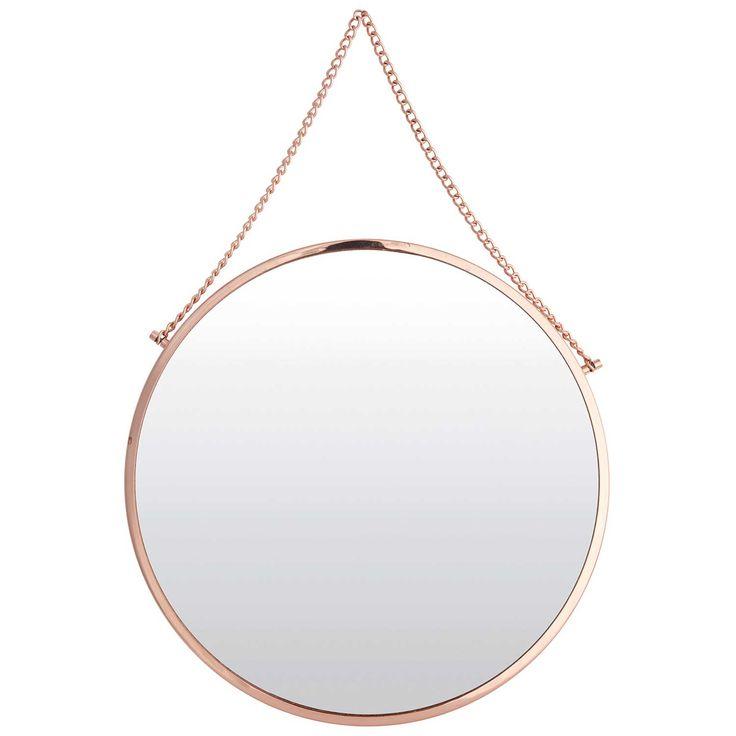 Bolina spegel rund, koppar i gruppen Inredningsdetaljer / Hemmets bra att ha / Speglar hos RUM21.se (115211)