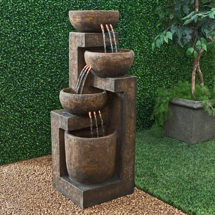 Have to have it. Alpine 3 Tier Cascading Pot Indoor/Outdoor Floor Fountain $349.99
