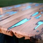 Shut up and take my money!! I wanna make this!! Wood Tables Embedded with Photoluminescent Resin by Mike Warren