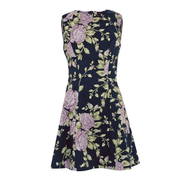 Rag & Bone Ruby Navy Floral Dress Size 0 NWOT Rag & Bone Ruby floral dress. New. Never worn. Cut for a flirtatious and youthful fit. This off duty staple is destined to be a come and go to choice for chic weekend style. The navy stretch cotton dress has a purple white and green rose print. A close fitting round neck is fitted to the waist with a full skirt. Mesh detail at back with concealed zip. 93% cotton. 70% Lycra. This dress is perfect for spring / summer. With boots or flats. With a…
